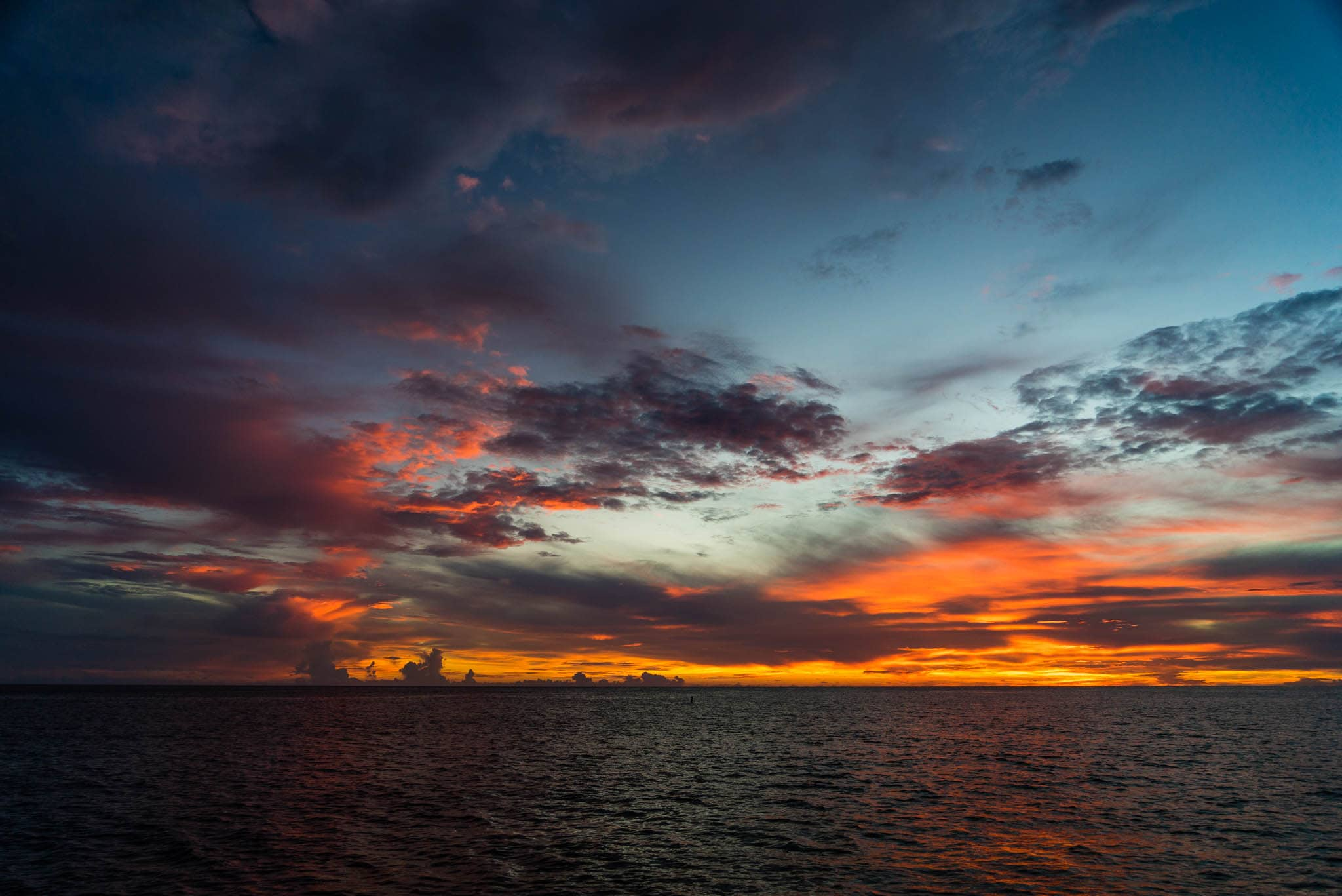 Caribbean Sunset at Sea by Patrick Bennett