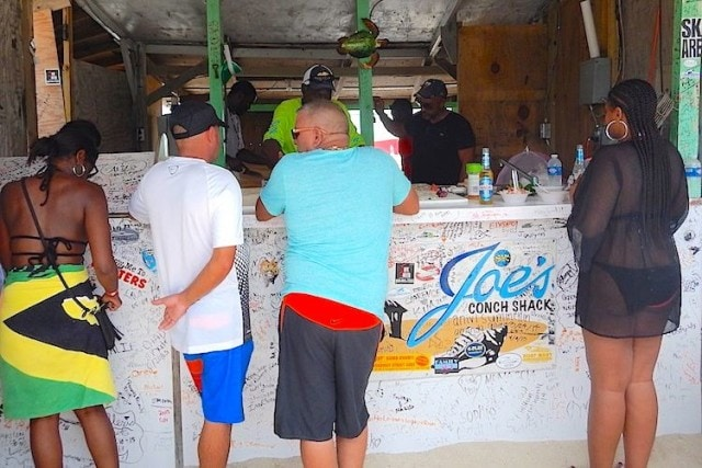 Ordering up at Joe's Conch Shack | Zickie Allgrove