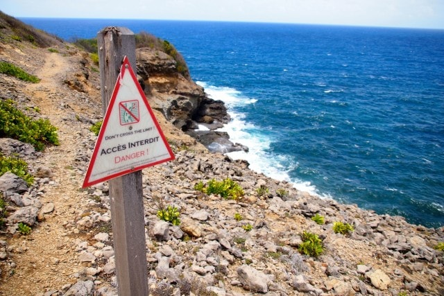 Footing can be tricky along the trails that wind around Martinique's Caravelle Peninsula | SBPR
