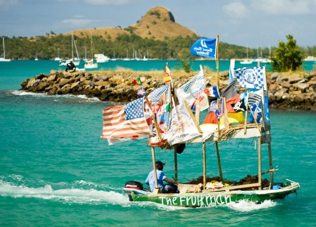 De Fruitman swoops into action along the shores of St. Lucia   Credit: Flickr user Dave Gray