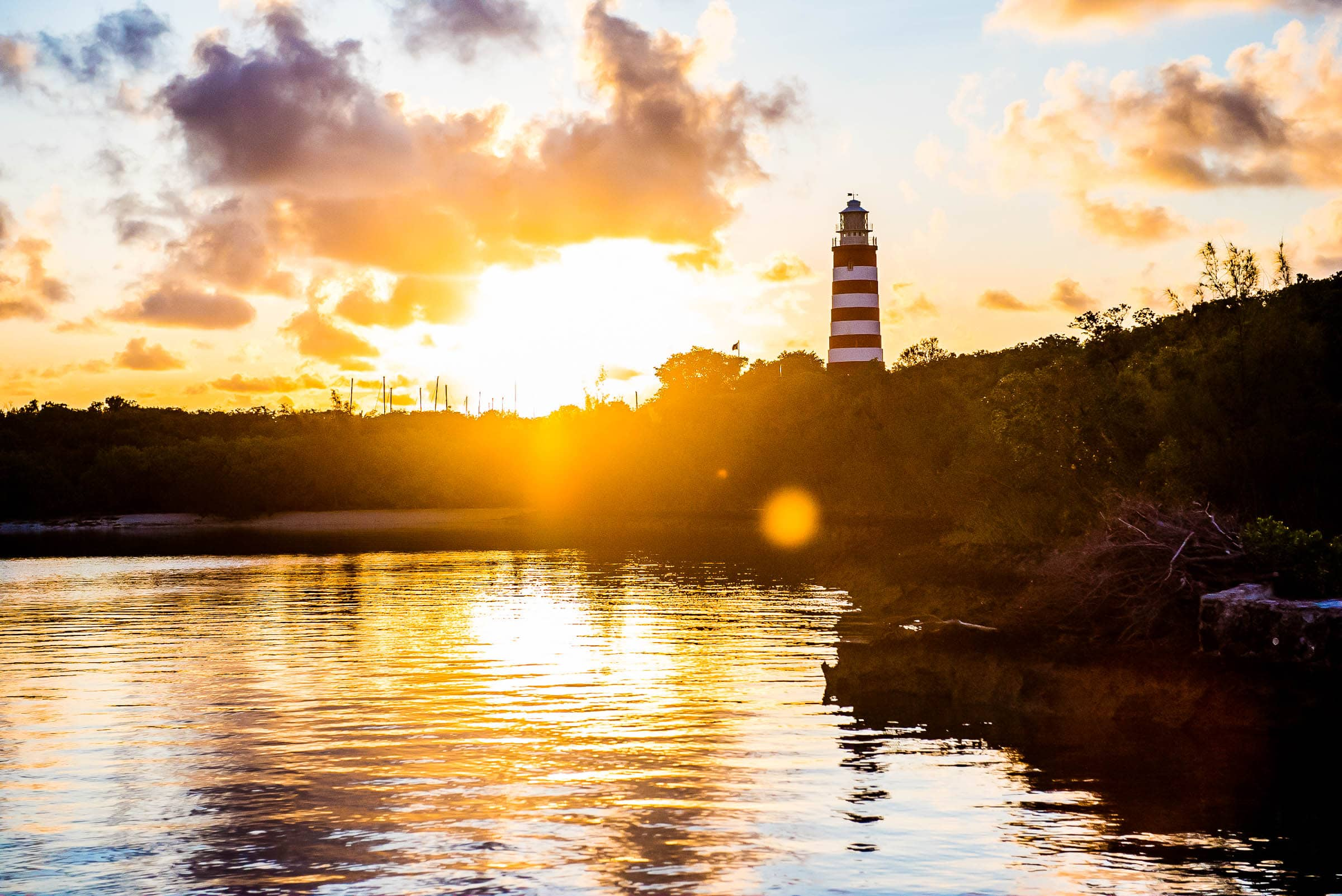 Sunrise over the Elbow Cay Lighthouse, Abaco by Patrick Bennett