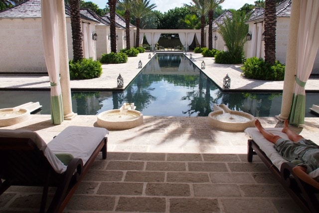Pre- and post-massage lounge area at The Spa at The Palms Turks & Caicos | SBPR