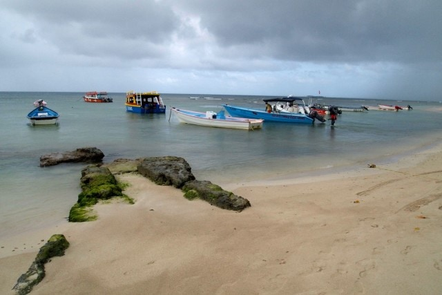 Moored in the rain at Crown Point, Tobago | SBPR