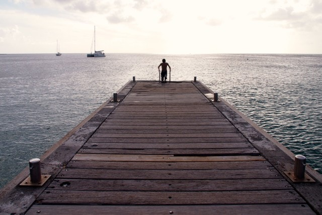 Climbing up the ladder at Anse-d'Arlet, Martinique | SBPR