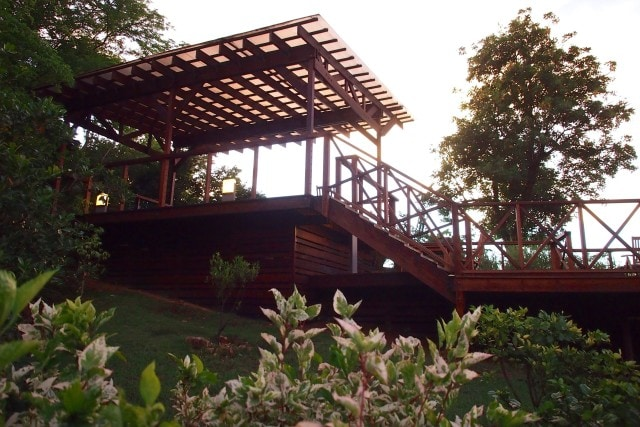 Sunset Terrace, one of the few communal spaces at Secret Bay, Dominica | SBPR