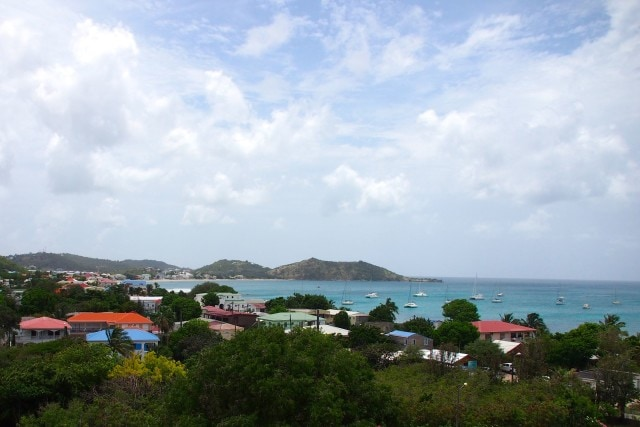 View from my room at Hotel L'Esplanade in Grand Case, Saint Martin | SBPR