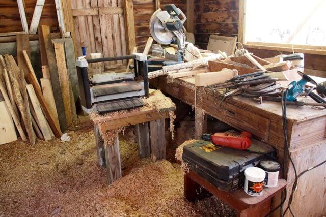 Tools of the trade and more wood sahvings, sawdust | SBPR