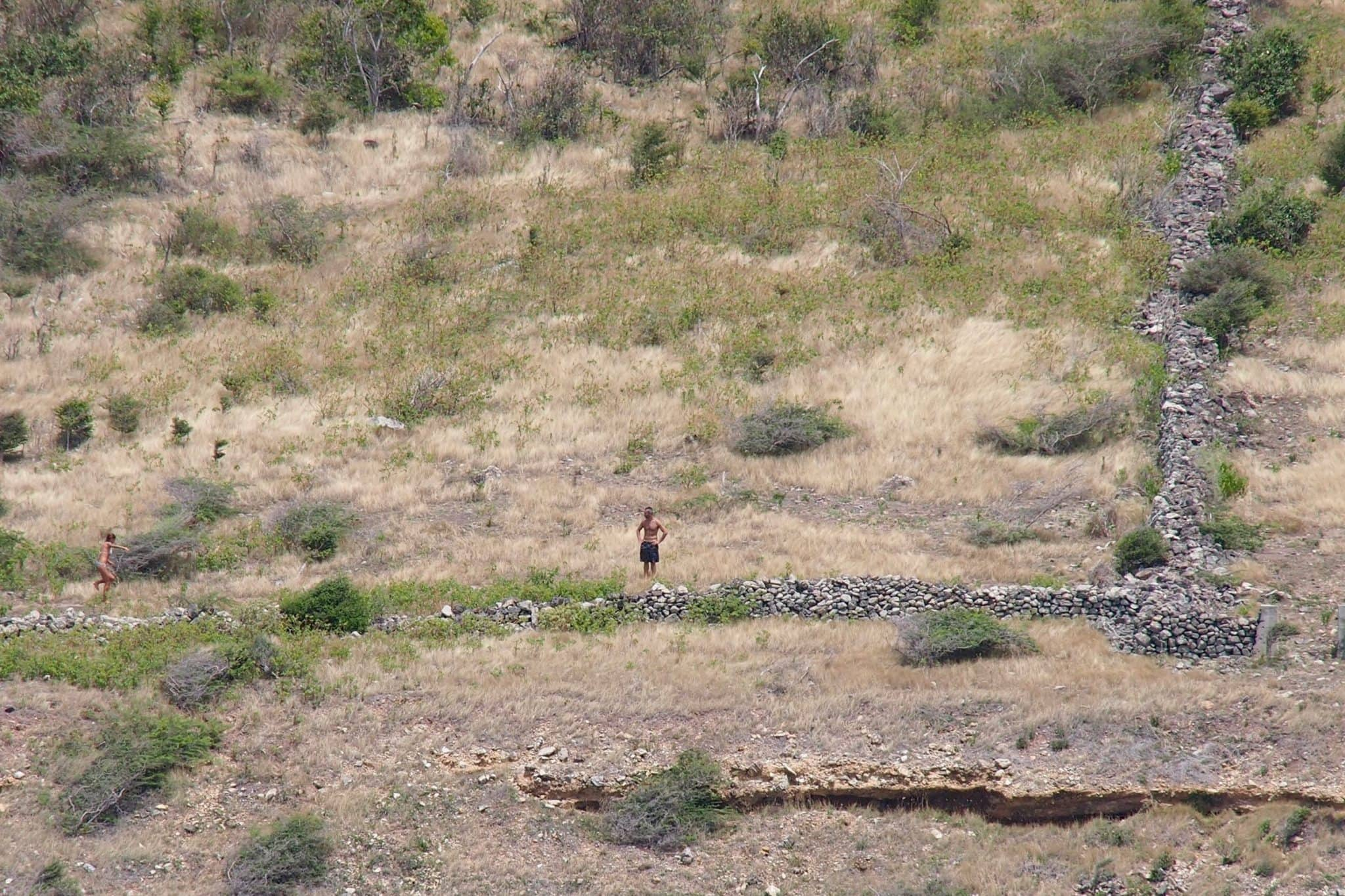 Hikers trekking along the slave walls of St. Martin | SBPR