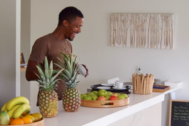 Marcel Peterson, the man to know at Natural Cafe in Sandy Ground, French Saint Martin | SBPR