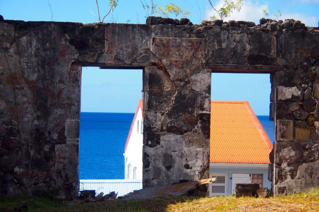 The new peeks out among the old everywhere in historic Saint-Pierre, Martinique | SBPR