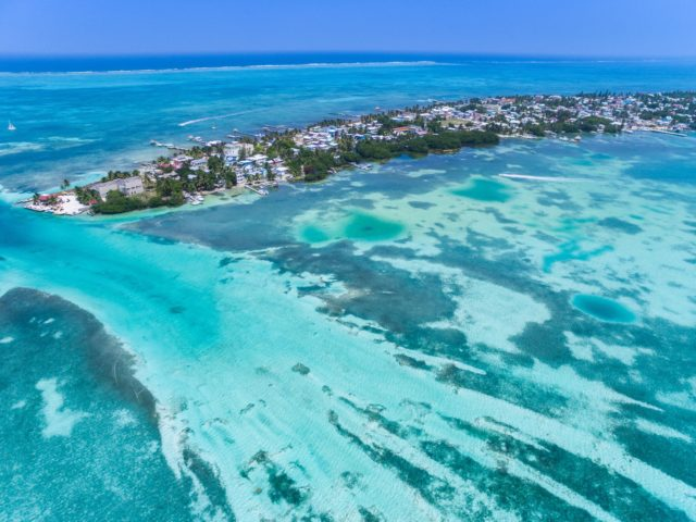 This birds-eye view of Caye Caulker may not look so pristine for long... | Credit: Flickr user f. ermert