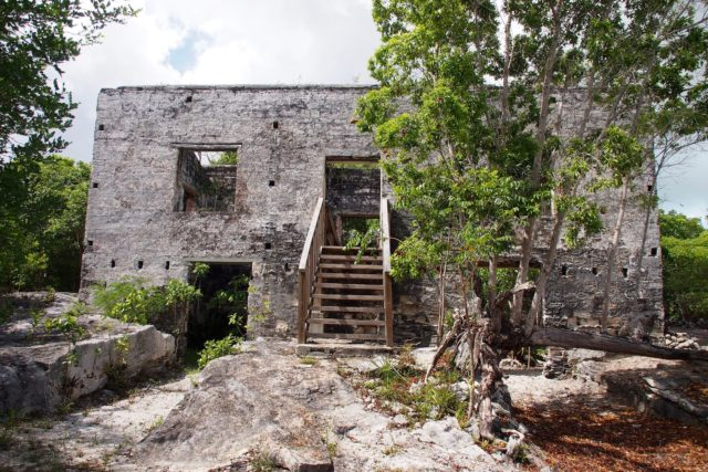 New stairs to the old Great House at Wade's Green Plantation, North Caicos | SBPR