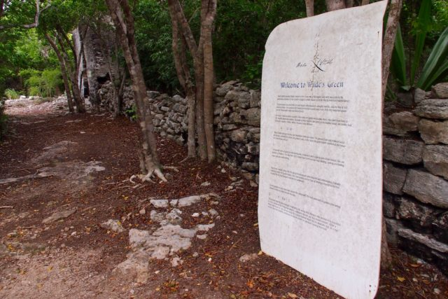 Info sign near the entrance to Wade's Green Plantation, North Caicos | SBPR