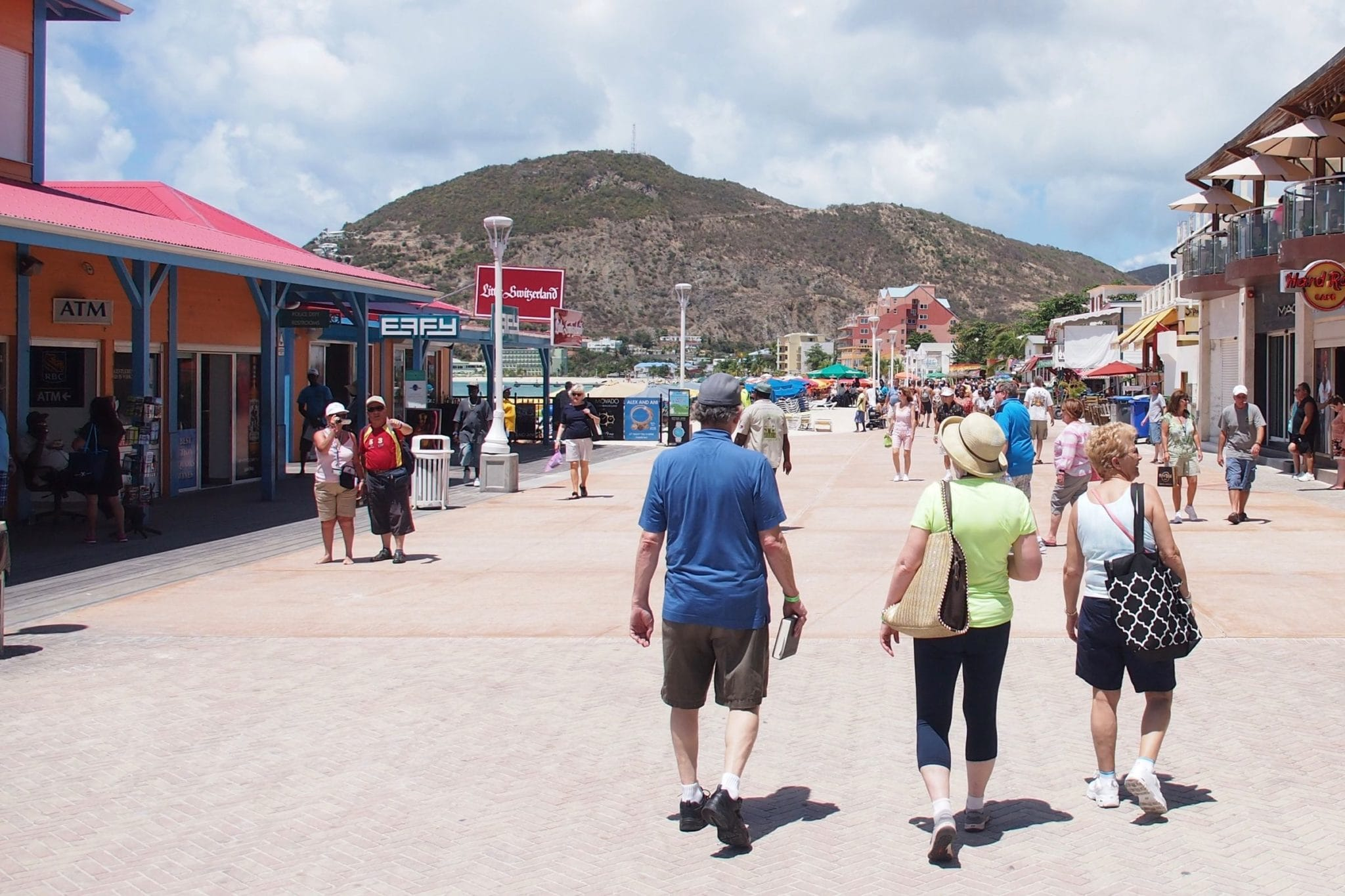 Strolling Along Captain Hodge Wharf in Philipsburg, St. Maarten | SBPR