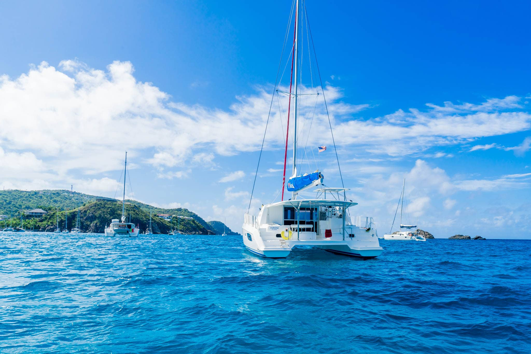 Anchored off St. Barths by Patrick Bennett