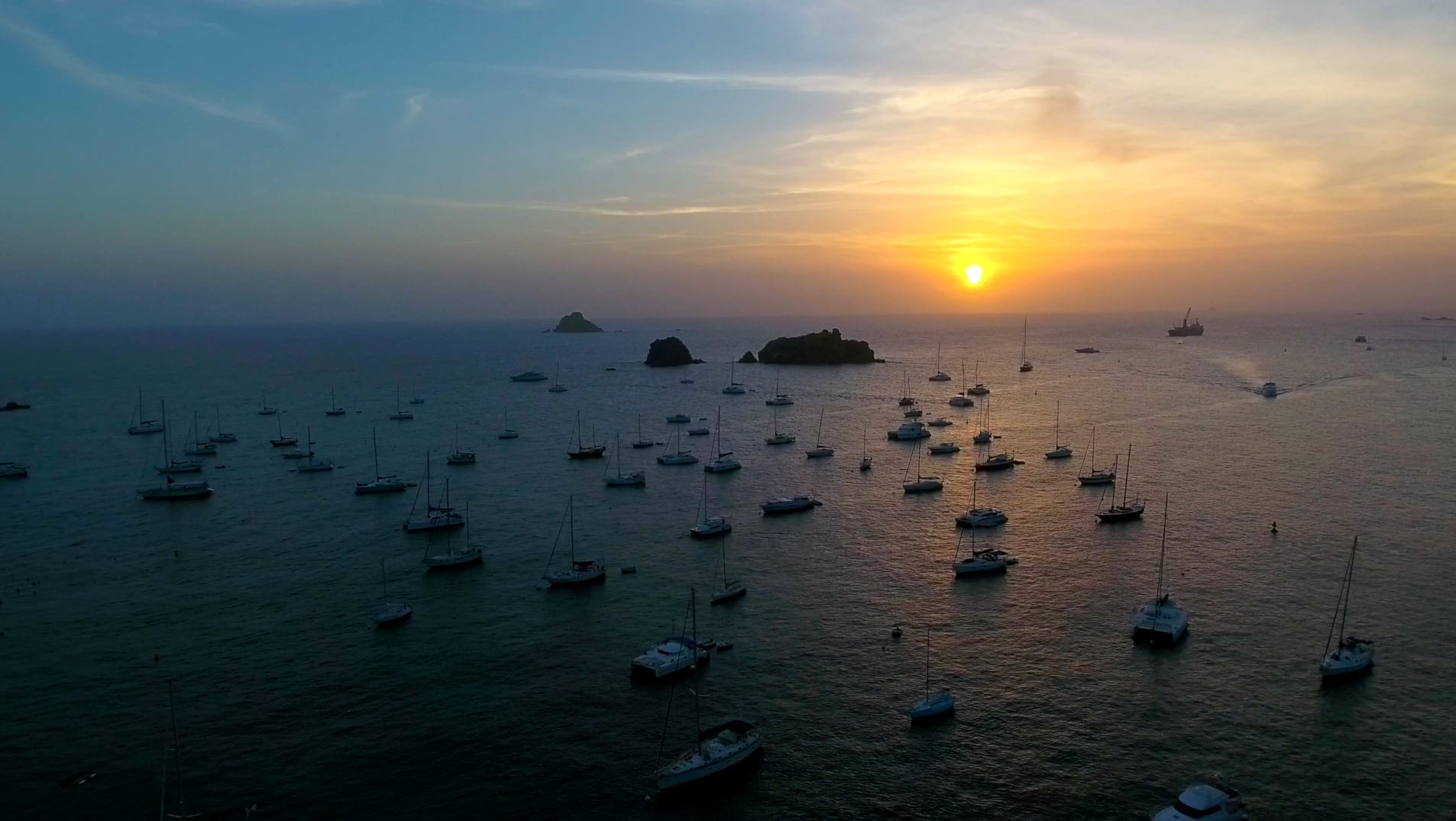 Sunset over St. Barths