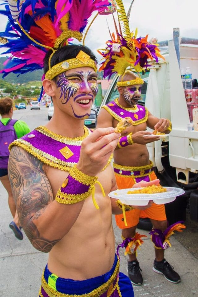 Fueling up for Carnival fun in St. Martin | Credit: Malaika Maxwell
