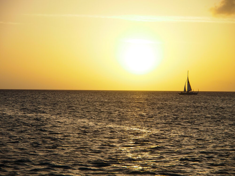 TCI Sunset Sailing Off Grace Bay, Turks and Caicos