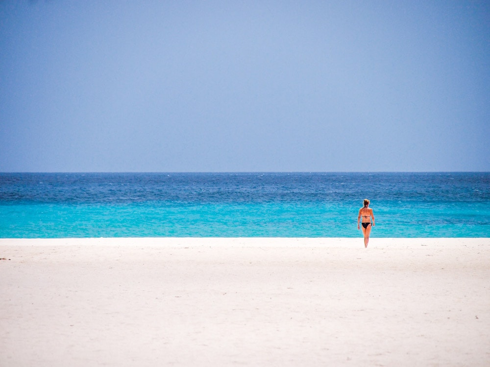 All alone on Eagle Beach, Aruba