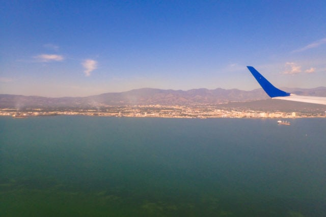 On final approach to Norman Manley Intl Airport in Kingston, Jamaica
