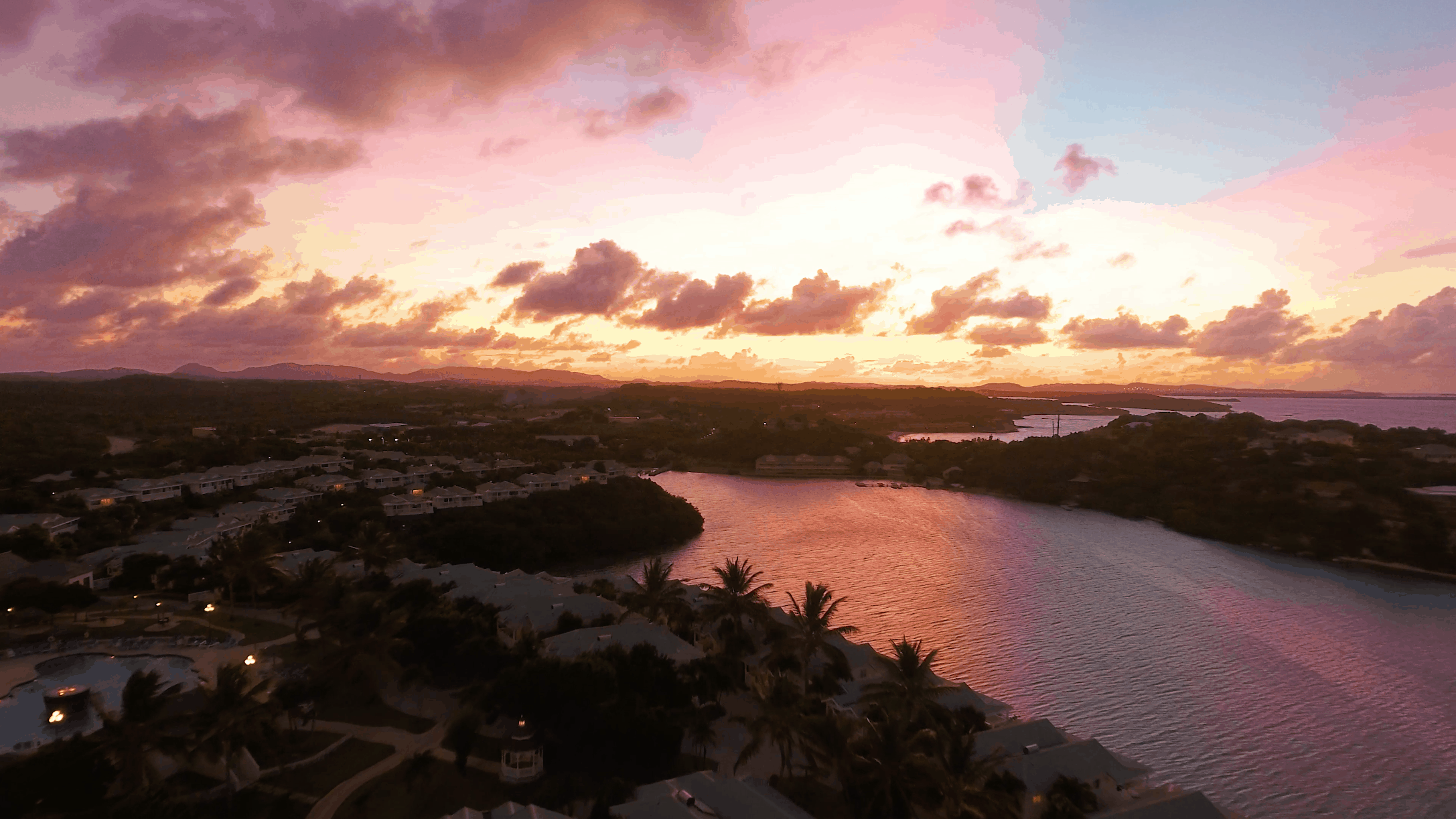 Sunset Over Verandah Resort Antigua