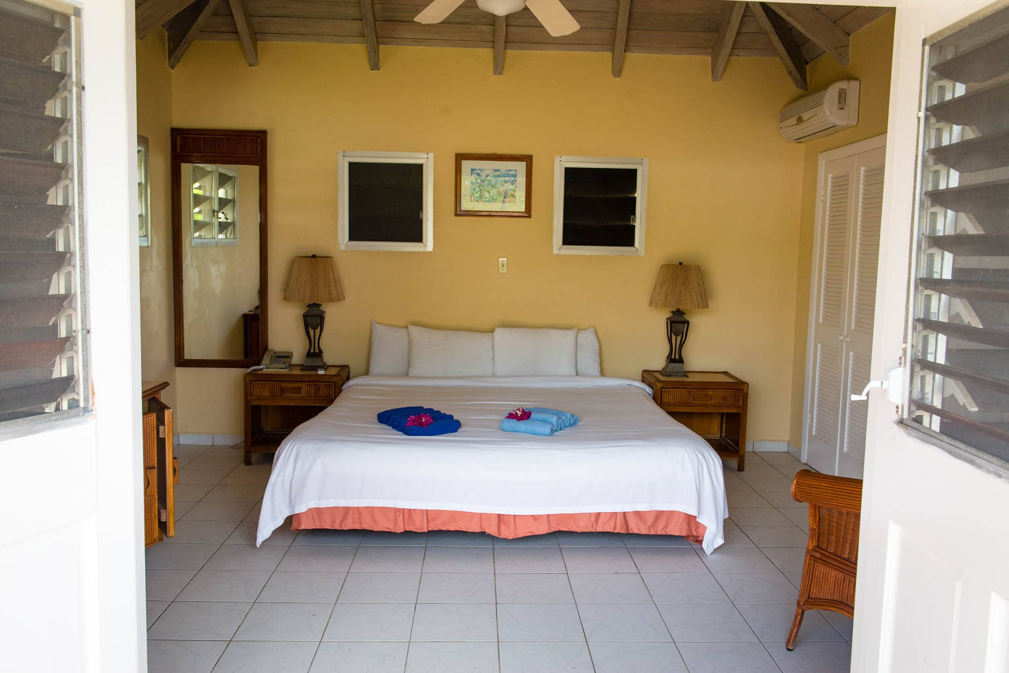 Quaint and comfortable rooms give you that real island feel.