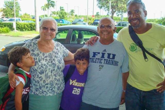 Me and my twins with Miss Jeanne and Fico in St. Croix a few years ago...