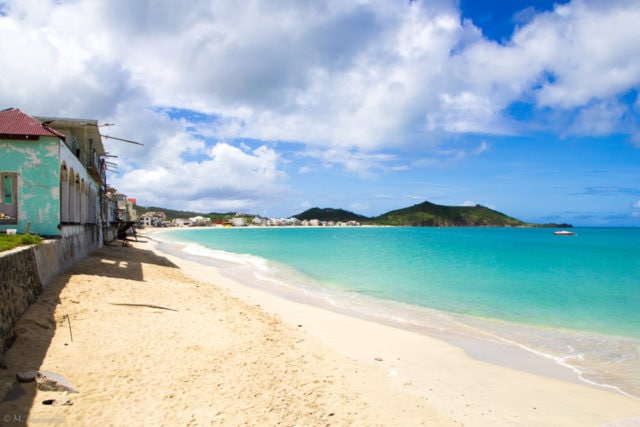 Still gorgeous Grand Case, St. Martin post Hurricane Irma
