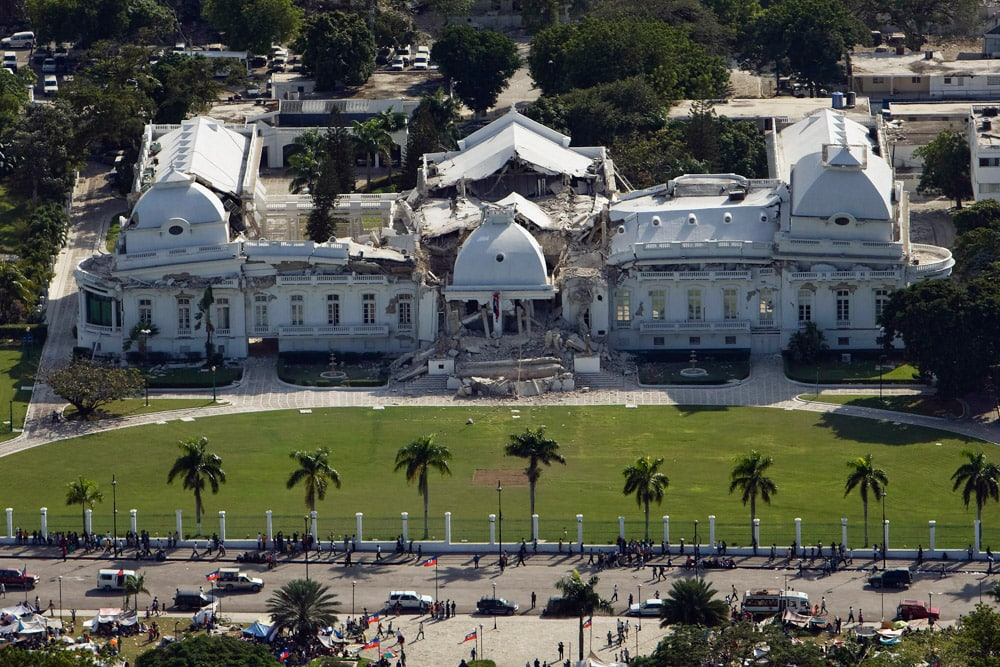 Haiti National Palace in ruins | Credit: United Nations Development Programme via Flickr