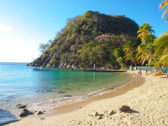 On the sand at Pain de Sucre, Guadeloupe