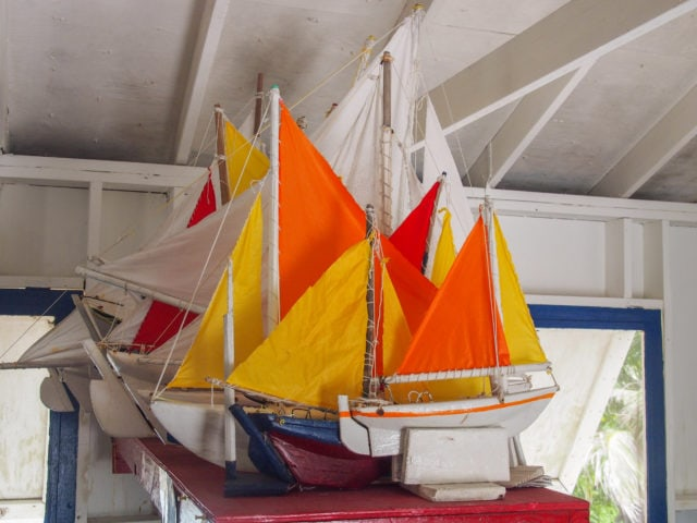 Model sailboats, Middle Caicos | SBPR