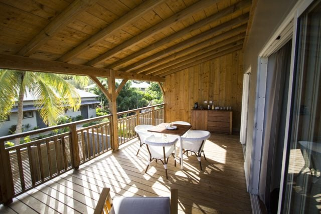 Your verandah at French Coco, Martinique