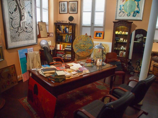 Aime Césaire's desk still sits in his former office, now a museum dedicated to his memory, in downtown Fort-de-France, Martinique | SBPR
