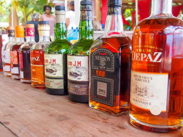 Rhum agricole on the beach in Martinique | SBPR