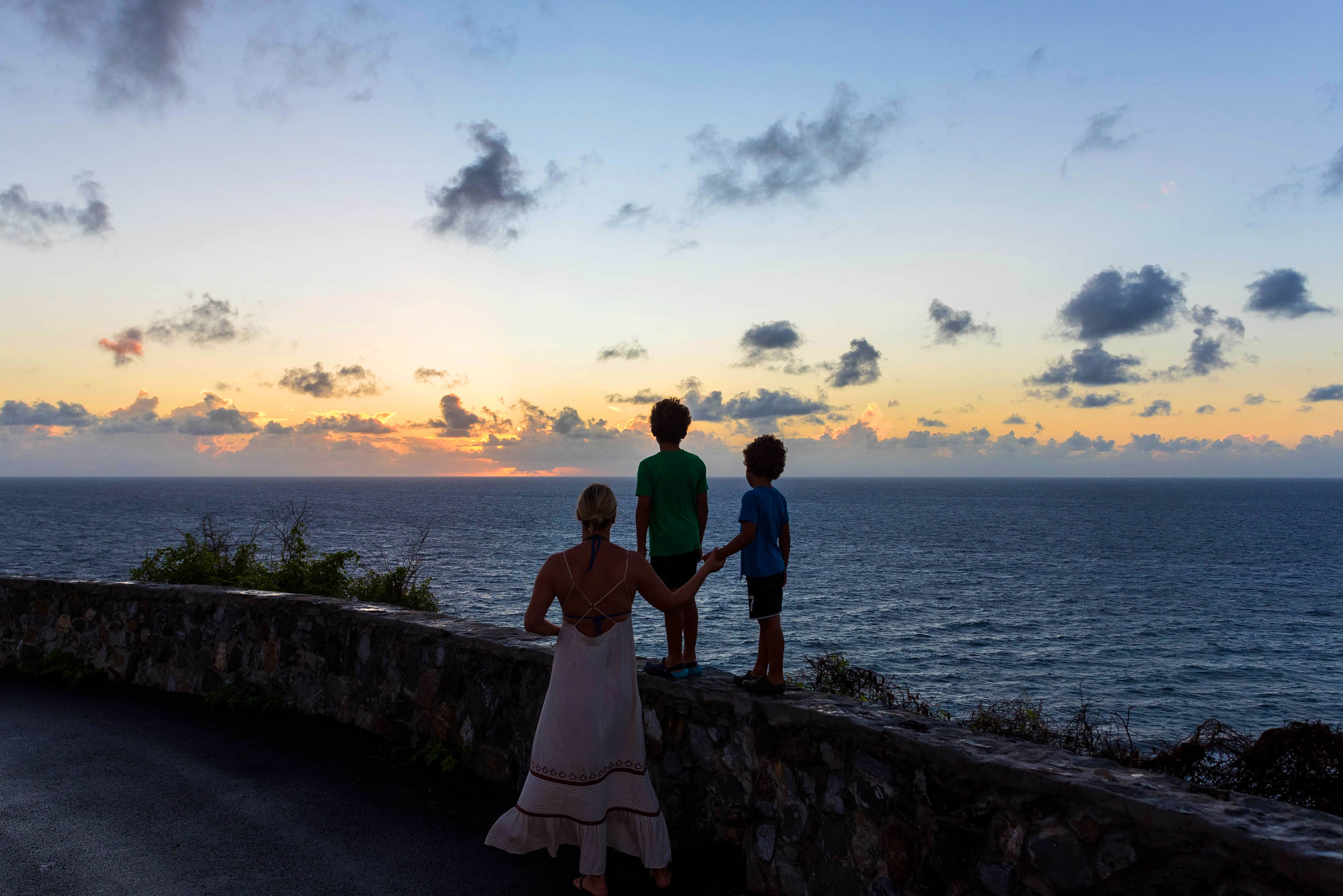 St. Croix Family at Sunrise