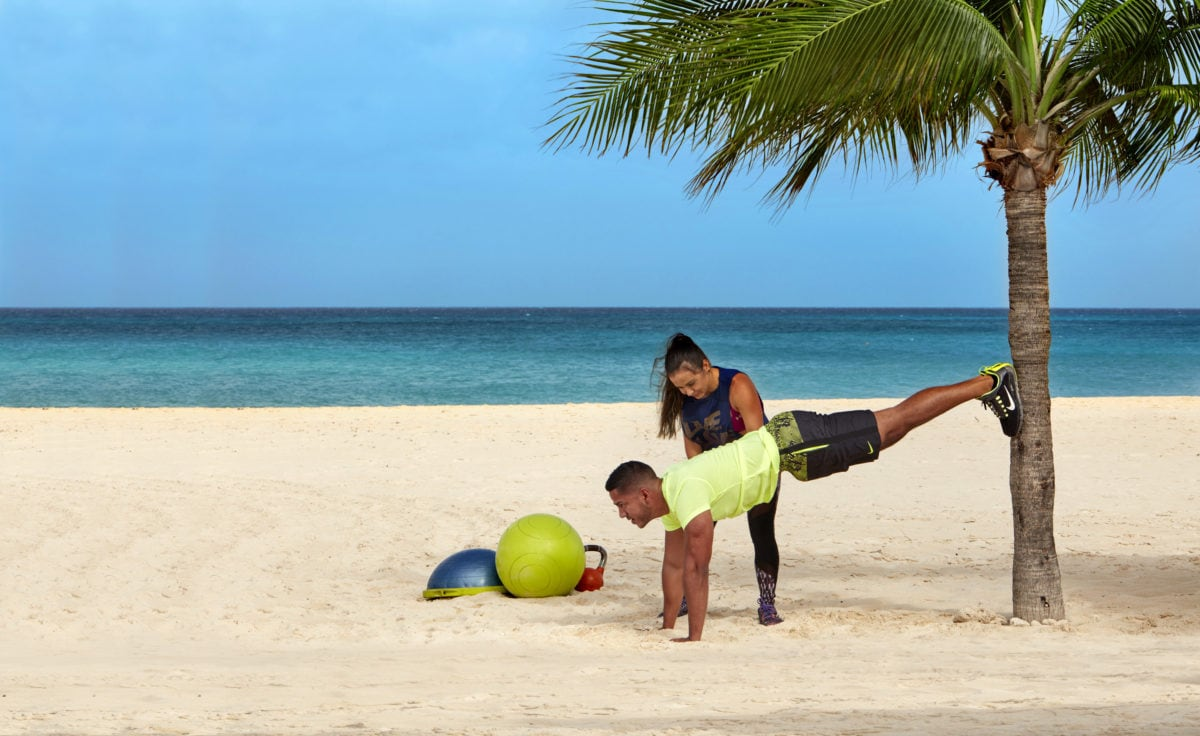Beach Bootcamp at Bucuti & Tara Beach Resort, Aruba