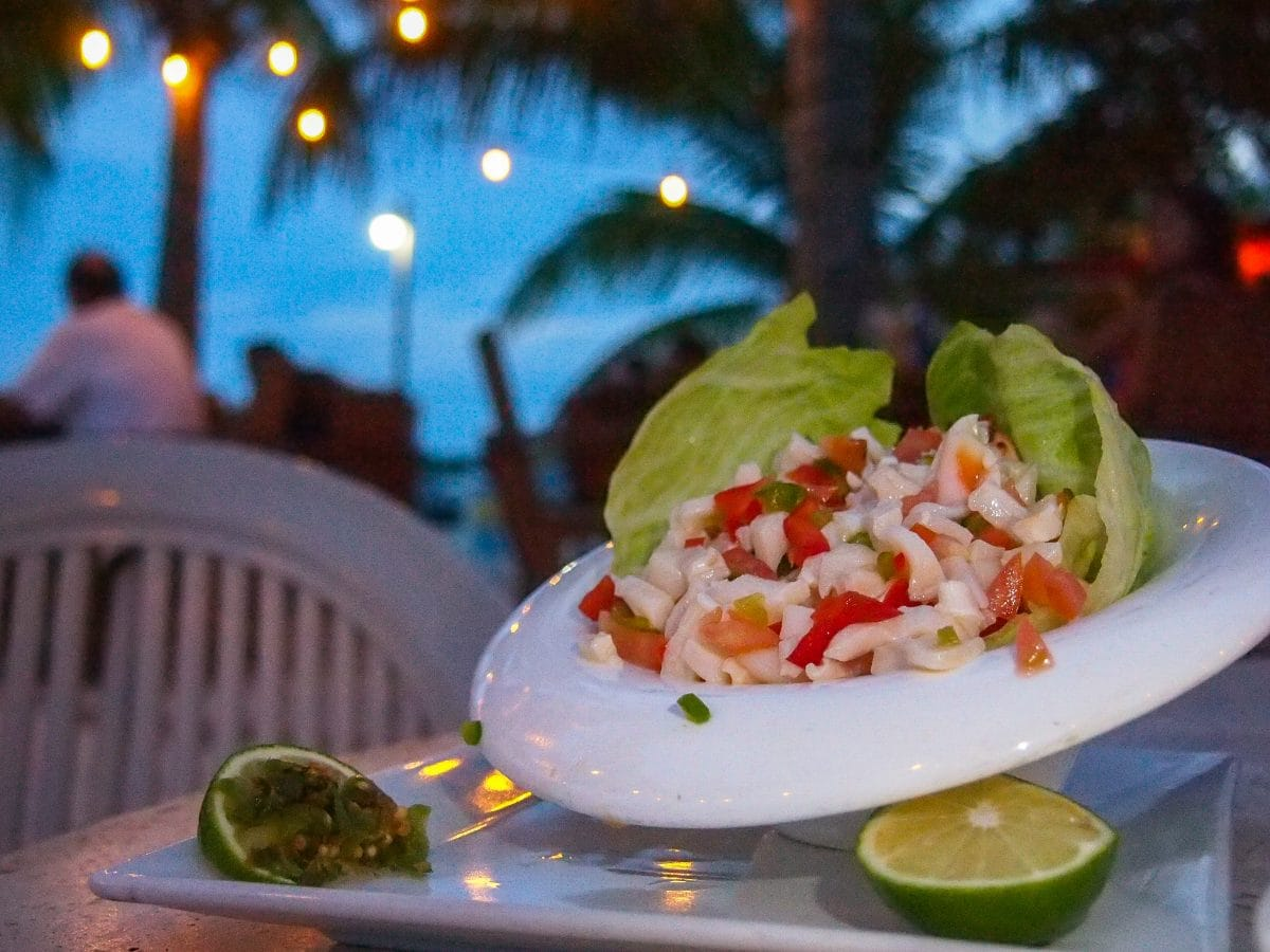 Delish conch salad at Bugaloo's Conch Crawl, Turks and Caicos | SBPR