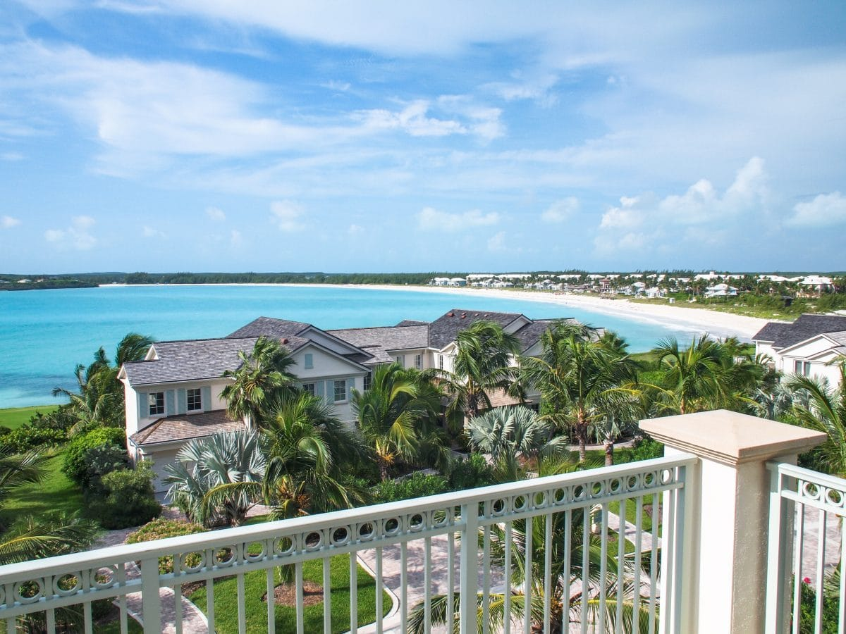 Lonely view of Emerald Bay from my balcony at Grand Isle Resort, Great Exuma | SBPR
