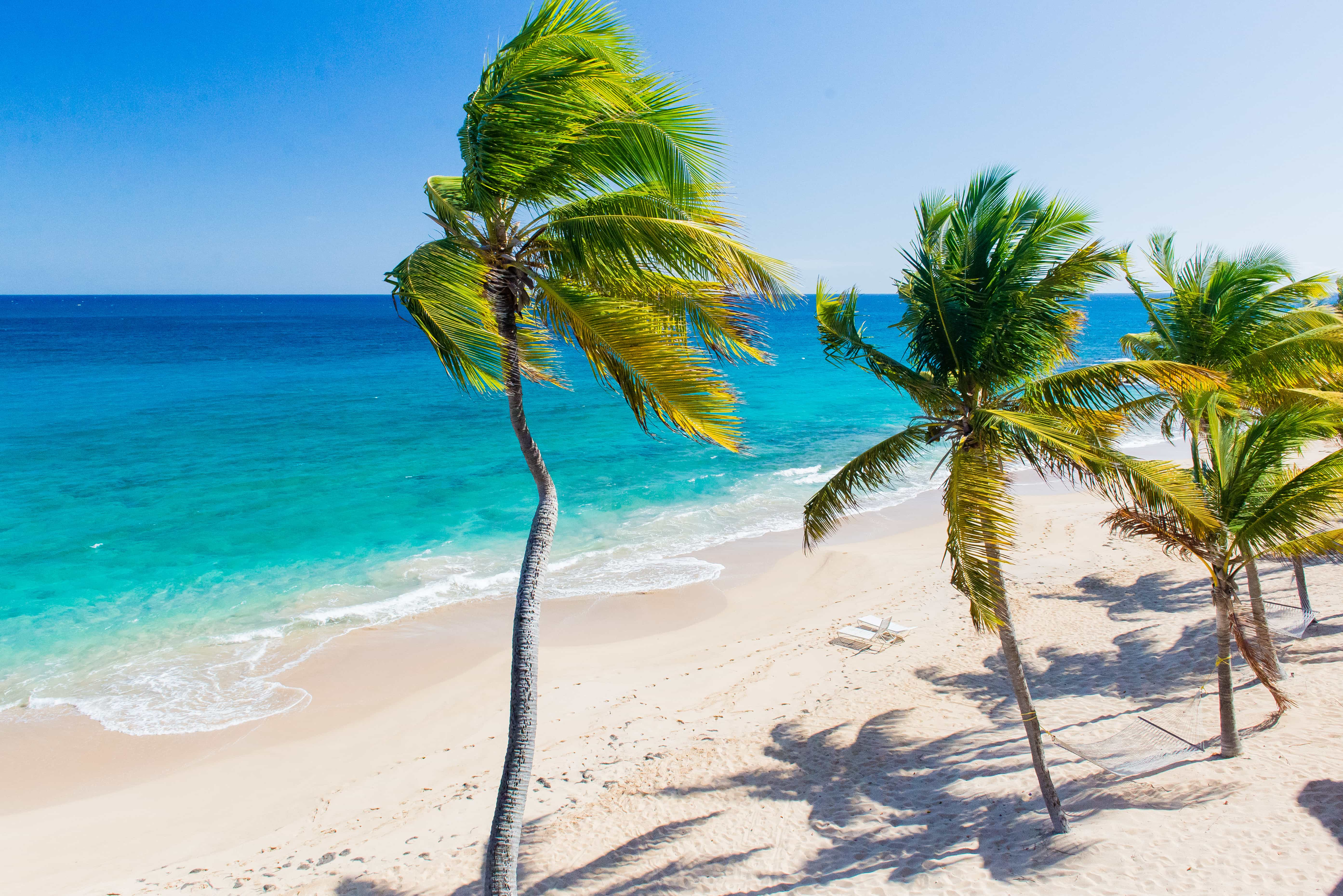 This is just one of the beaches at Curtain Bluff.