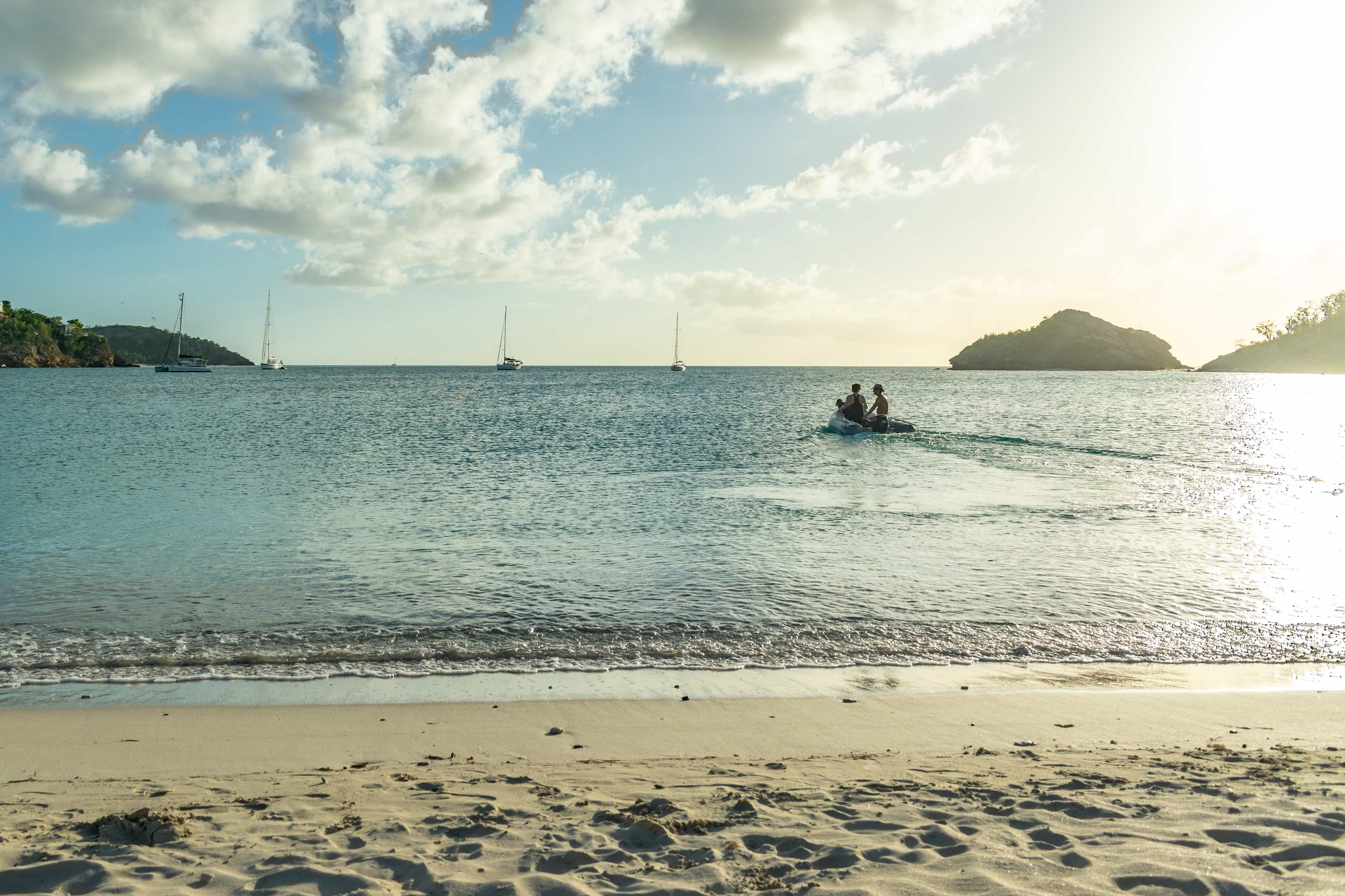 Retreating With The Sun From Deep Bay, Antigua | SBPR