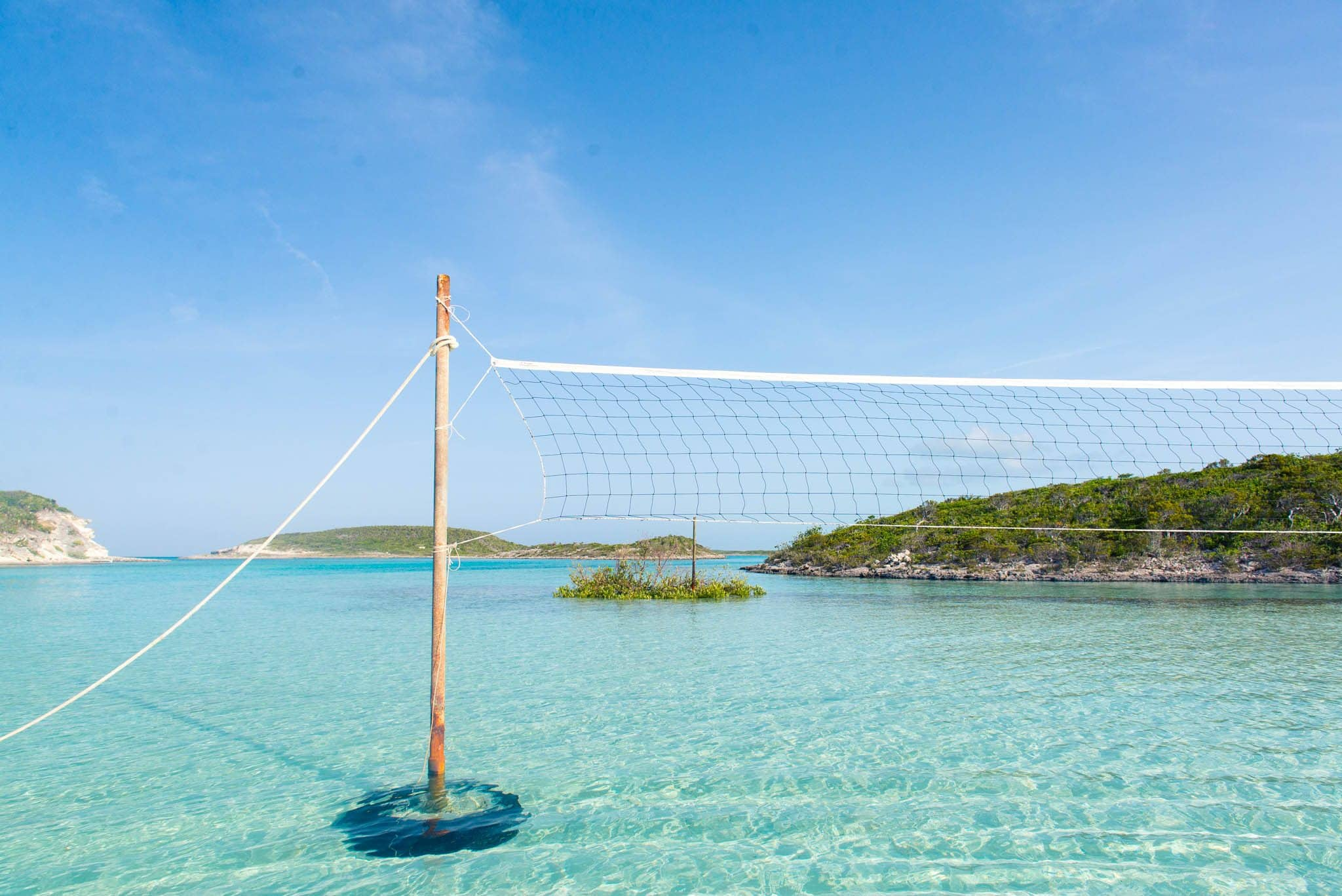 The Most Beautiful Volleyball Court - Staniel Cay