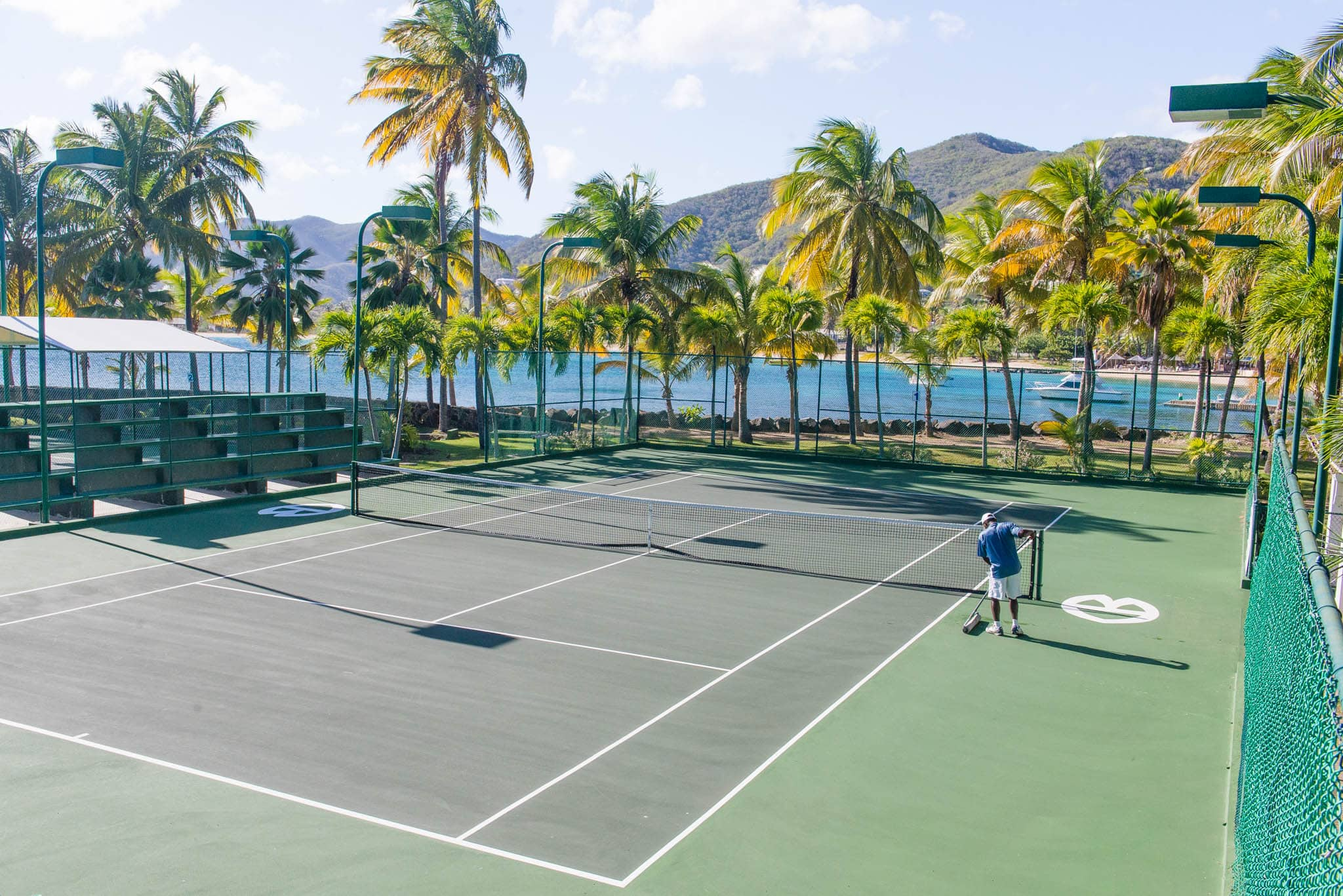 There is probably no better place to play tennis in the Caribbean than here.