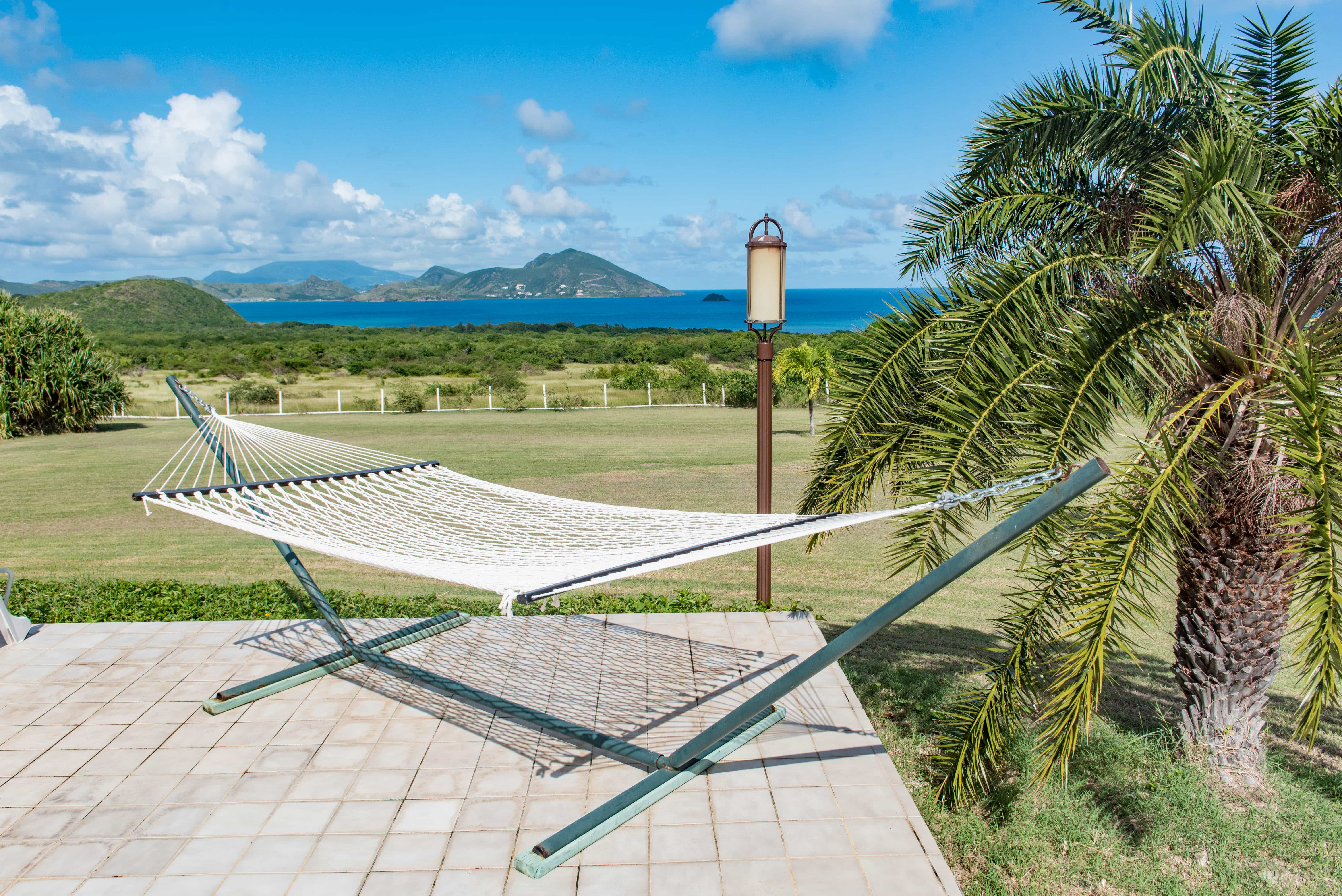 Go horizontal and bask in the glow of the Nevis Sun.