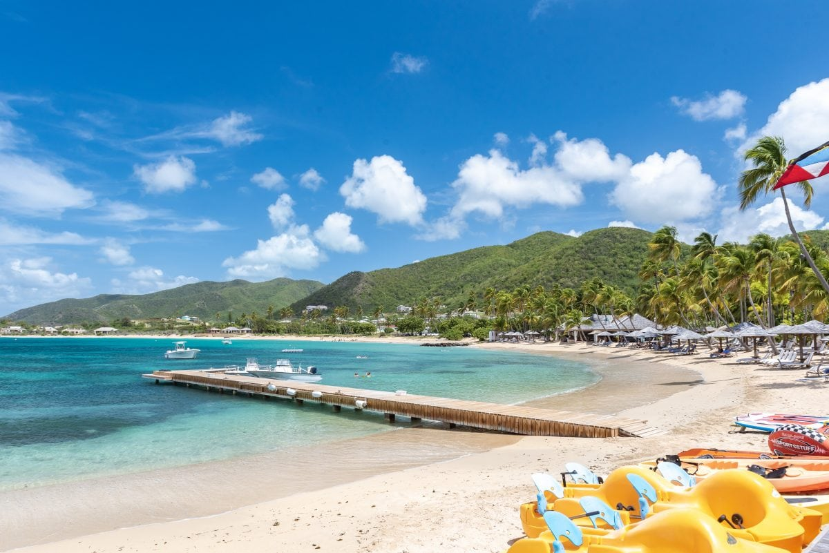 Antigua - Another shot of Bay Beach, Curtain Bluff