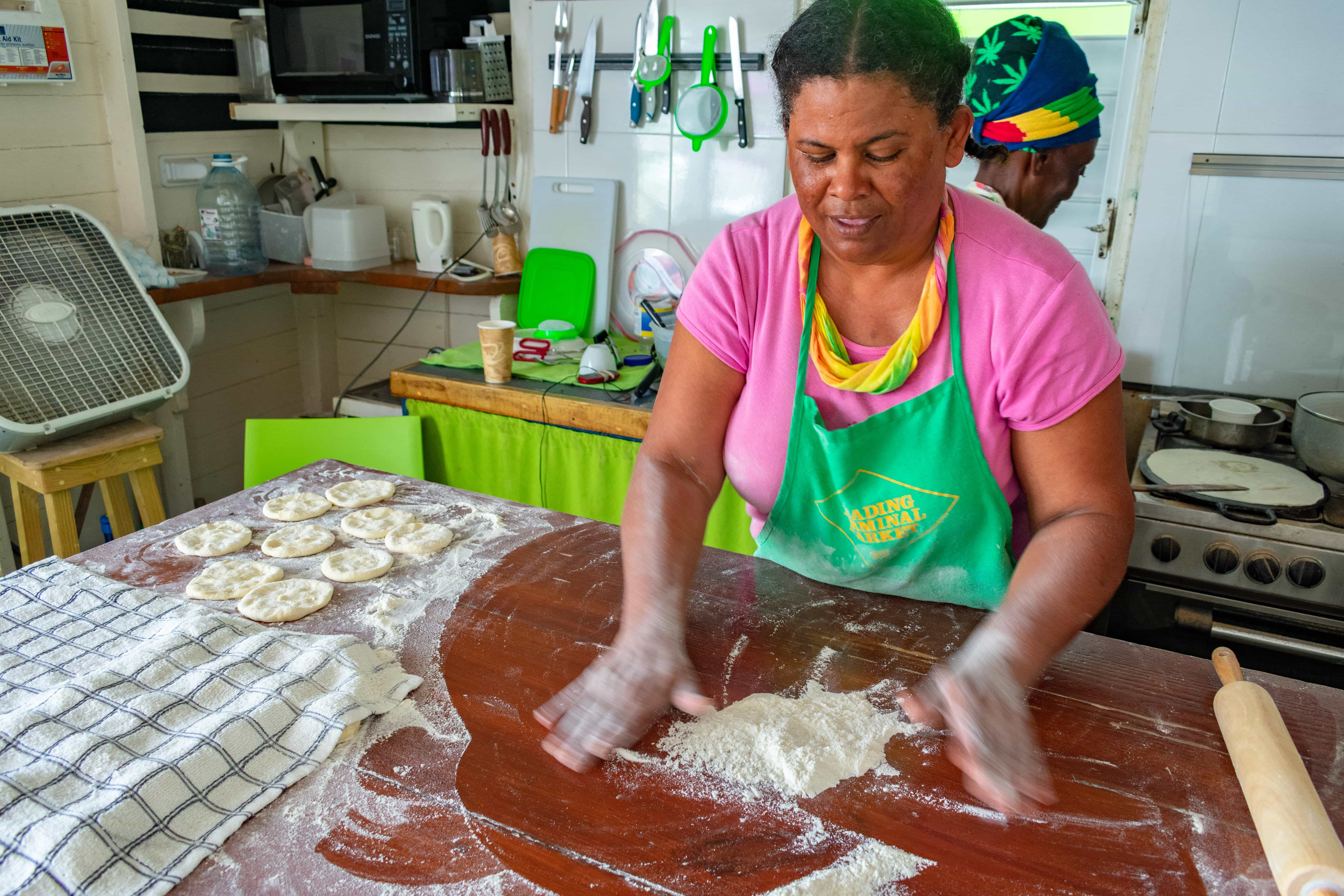 Roti Sue doing her thing, Antigua | SBPR