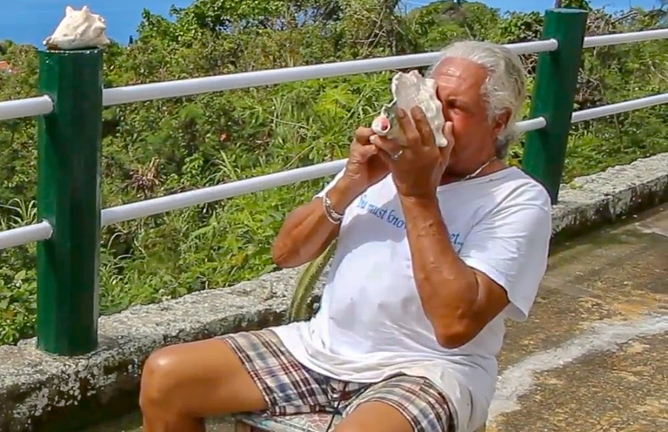 Conch Man Percy in Saba