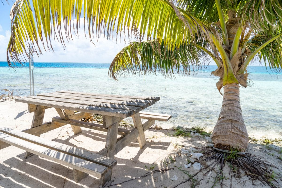 The Perfect Lunch Spot — Silk Cayes Beach, Belize