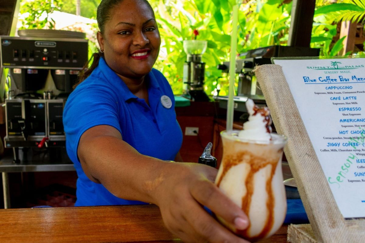Shannon serving up sweet treats at Sunset At The Palms in Negril, Jamaica | SBPR