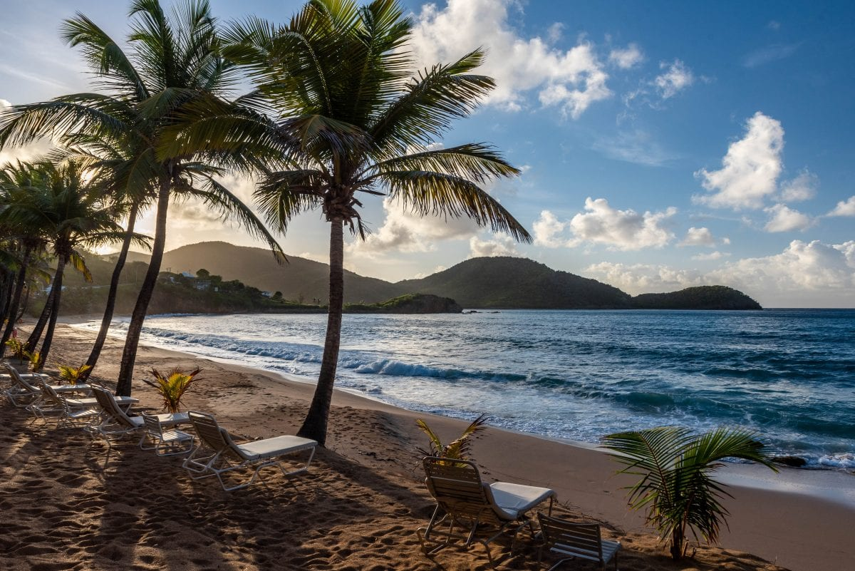 My suite view at Curtain Bluff, Antigua