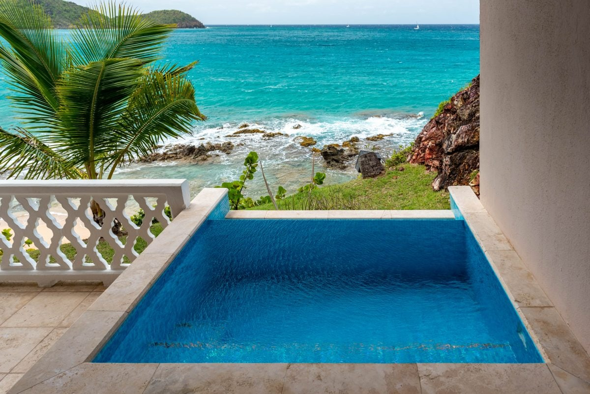 Updated plunge pools at Curtain Bluff, Antigua